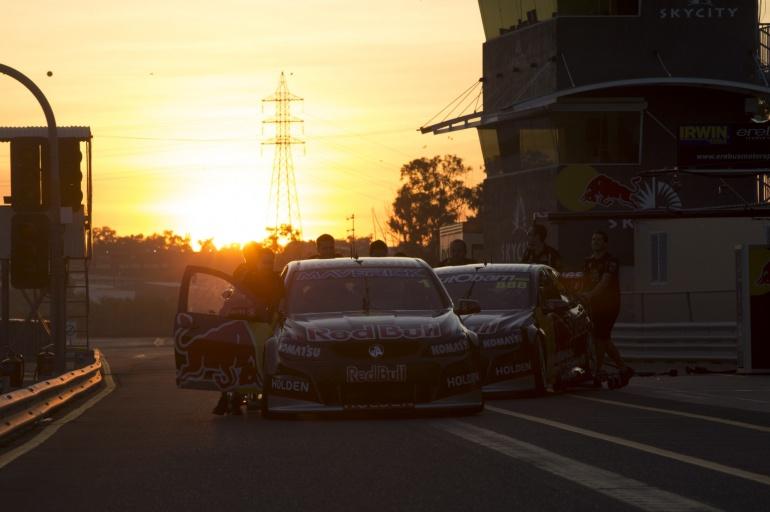 V8 racing car - stunning V8 racing shot by night in Darwin