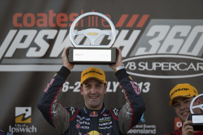 Ipswich v8 2013 trophy for Jamie Whincup
