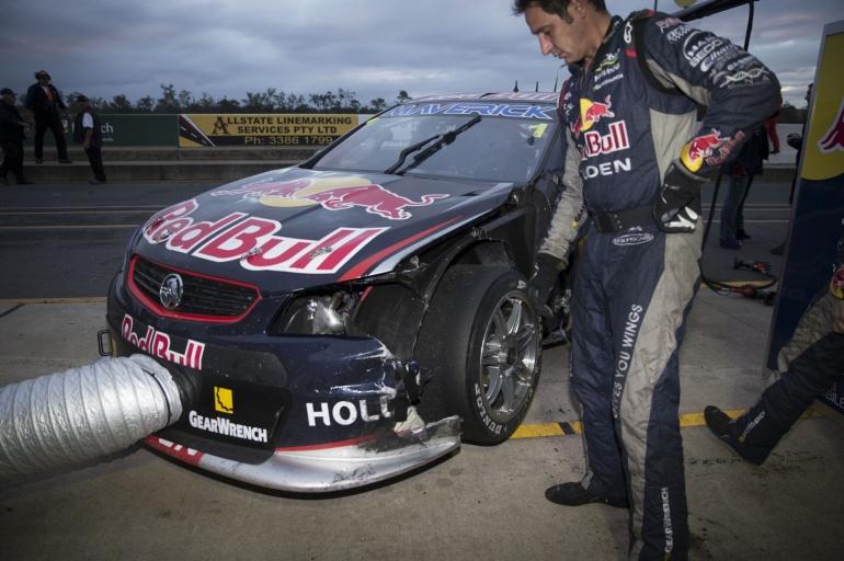 Racing Car crashes